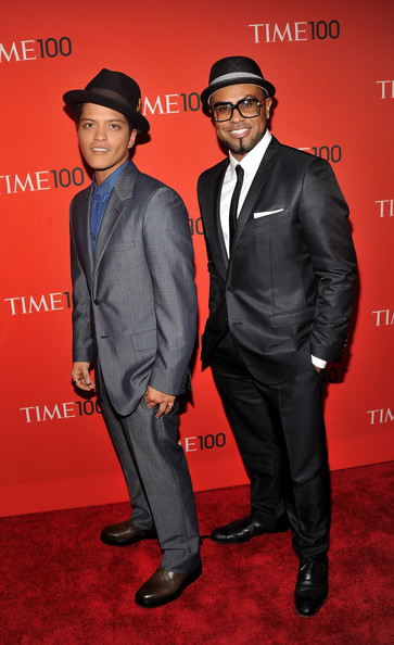 Bruno Mars Bruno Mars (L) and songwriter Philip Lawrence attend the TIME 100 Gala, TIME'S 100 Most Influential People In The World at Frederick P. Rose Hall, Jazz at Lincoln Center on April 26, 2011 in New York City.