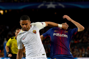 Bruno Peres FC Barcelona VS. AS Roma - UEFA Champions League Quarter Final Leg One