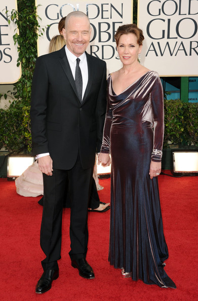 Bryan Cranston Actor Bryan Cranston (L) and wife Robin Dearden arrives at the 68th Annual Golden Globe Awards held at The Beverly Hilton hotel on January 16, 2011 in Beverly Hills, California.