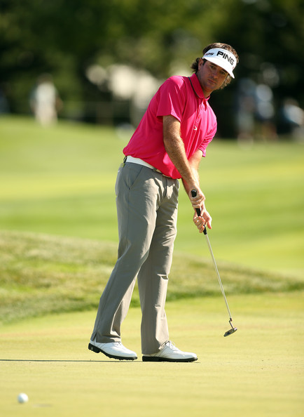 Bubba Watson Bubba Watson of the United States putts on the 12th hole ...