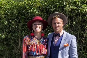 Buck Palmer Celebrities Attend Melbourne Cup Day