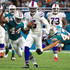 Stephone Anthony Photos - Stephone Anthony #44 of the Miami Dolphins forces a fumble on Tyrod Taylor #5 of the Buffalo Bills during the second quarter against the Miami Dolphins at Hard Rock Stadium on December 31, 2017 in Miami Gardens, Florida. - Buffalo Bills vMiami Dolphins