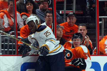Mike Grier Buffalo Sabres v Philadelphia Flyers - Game One