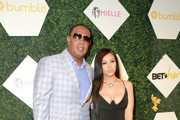 Master P and Cymphonique Miller arrive at the BET Her Awards Presented By Bumble at Conga Room on June 21, 2018 in Los Angeles, California.