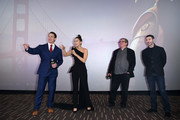 (L-R) John Cena, Hailee Steinfeld, Lorenzo di Bonaventura and Travis Knight attend a fan screening for Paramount Pictures' film 'Bumblebee' on December 14, 2018 in Beijing, China.