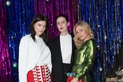 Amber Anderson, Erin O'Connor and Clara Paget attends the Burberry x Cara Delevingne on December 2, 2017 in London, England.
