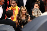 """La Toya Jackson (C) attends the screening of """"Burning""""  during the 71st annual Cannes Film Festival at Palais des Festivals on May 16, 2018 in Cannes, France."""