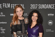 """(L-R) Actresses Brittany Snow (L) and Angelic Zambrana attend the """"Bushwick"""" premiere on day 3 of the 2017 Sundance Film Festival at Library Center Theater on January 21, 2017 in Park City, Utah."""