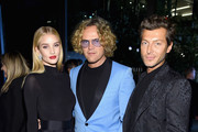 (L-R) Rosie Huntington-Whiteley, Peter Dundas and Evangelo Bousis  attend the #BoF500 gala dinner during New York Fashion Week Spring/Summer 2019 at 1 Hotel Brooklyn Bridge on September 9, 2018 in Brooklyn City.