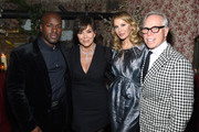 (L-R) Tour Manager Corey Gamble, Talent Manager, Jenner Communications, Kris Jenner, Entrepreneur, Fashion Designer Dee Ocleppo Hilfiger and Designer Tommy Hilfiger attend an intimate dinner hosted by The Business of Fashion to celebrate its latest special print edition 'The Age of Influence' at Peachy's/Chinese Tuxedo on May 8, 2018 in New York City.