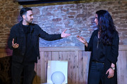 Dynamo (L) and guest on stage during his performance at #BoFVOICES on November 30, 2017 in Oxford, England.