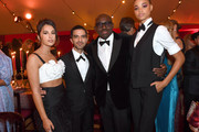 (L-R) Naomi Scott, Imran Amed, Edward Enninful and Ella Balinska attend the gala dinner in honour of Edward Enninful, winner of the Global VOICES Award 2019, during #BoFVOICES on November 22, 2019 in Oxfordshire, England.