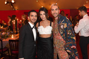 (L-R) Imran Amed, Naomi Scott and Nikhil Mansata attend the gala dinner in honour of Edward Enninful, winner of the Global VOICES Award 2019, during #BoFVOICES on November 22, 2019 in Oxfordshire, England.