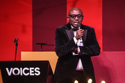 Edward Enninful accepts  the Global VOICES Award 2019, during the gala dinner at #BoFVOICES on November 22, 2019 in Oxfordshire, England.