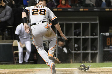Buster Posey San Francisco Giants v Chicago White Sox
