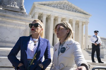 Busy Philipps Advocates Rally In Washington As Arguments In Supreme Court Abortion Case June Medical Services V. Russo Are Heard