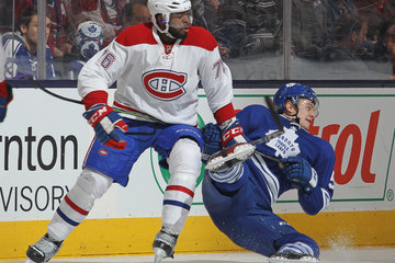 Byron Froese Montreal Canadiens v Toronto Maple Leafs