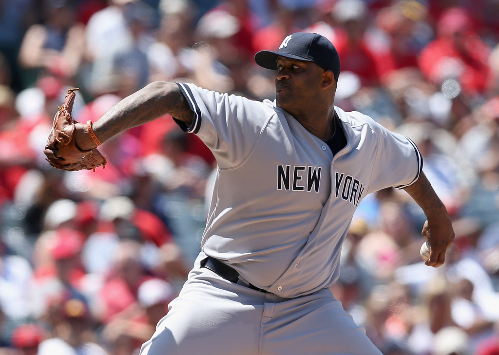 C.C. Sabathia - New York Yankees v Los Angeles Angels of Anaheim