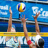 Juliana Photos - Bárbara Seixas (L) and Juliana (R) in action during the CBBVP Open Beach Volleyball - Final at Enseada Beach on November 17, 2013 in Guaruja, Brazil. - CBBVP Open Beach Volleyball - Final