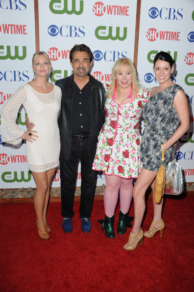 (L-R) Actors A.J Cook, Joe Mantegna, Kirsten Vangsness and Paget Brewster arrive at the TCA Party for CBS, The CW and Showtime held at The Pagoda on August 3, 2011 in Beverly Hills, California.