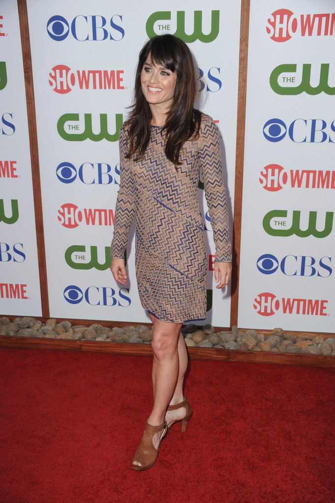 Robin Tunney arrives at the Television Critic Association