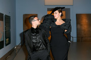 Christian Siriano (L) and Eva Mendes attend the CFDA Fashion Awards at the Brooklyn Museum of Art on June 03, 2019 in New York City.