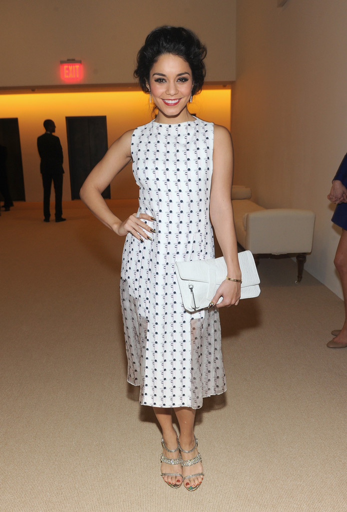 Actress Vanessa Hudgens attends CFDA and Vogue 2013 Fashion Fund Finalists Celebration at Spring Studios on November 11, 2013 in New York City.