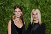 Constance Jablonski and Natalie Ratabesi attend the CFDA / Vogue Fashion Fund 2019 Awards at Cipriani South Street on November 04, 2019 in New York City.