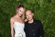 Candice Swanepoel and Jason Wu attend the CFDA / Vogue Fashion Fund 2019 Awards at Cipriani South Street on November 04, 2019 in New York City.