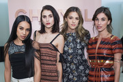 (L-R) Aleali May, Langley Fox, Sistine Stallone and Rainey Qualley attend the Chanel Ephemeral Boutique opening at Nordstrom on November 28, 2017 in Seattle, Washington.