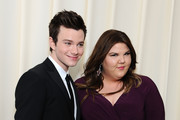 (L-R) Actors Chris Colfer and Ashley Fink attend CIROC Vodka at 20th Annual Elton John AIDS Foundation Academy Awards Viewing Party at The City of West Hollywood Park on February 26, 2012 in Beverly Hills, California.