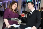 Actors Ashley Fink and Chris Colfer attend CIROC Vodka at 20th Annual Elton John AIDS Foundation Academy Awards Viewing Party at The City of West Hollywood Park on February 26, 2012 in Beverly Hills, California.