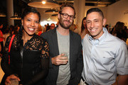 (L-R)Fahmida Lam, Adam Rogers and Jonathan Adler attend CITY MODERN Presented By New York And Dwell Magazines Host Creativity & Constraint With Jonathan Adler & Amy Adler at Dell Venue on October 3, 2013 in New York City.