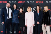 """(L-R) Rupert Whitaker, Eoin Macken, Director Vicky Jewson, Noomi Rapace, Jacquie Davis and Sophie Nelisse attend a special screening of """"Close"""" at The Mayfair Hotel on January 16, 2019 in London, England."""