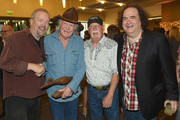 (L-R) Don Schlitz, Billy Joe Shaver, Richie Albright and Jeremy Tepper of Sirius XM attend the CMHOF Outlaws and Armadillos VIP Opening Reception on May 24, 2018 in Nashville, Tennessee.
