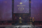 Carrie Underwood receives CMT Artist of the Year award during a remote performance at Rocket Mortgage Fieldhouse on October 16, 2019 in Cleveland, Ohio.