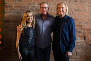 (L-R) Sheryl Crow poses with John Hamlin and Joe Walsh during CMT Crossroads: Sheryl Crow & Friends at Clementine Hall on August 22, 2019 in Nashville, Tennessee.