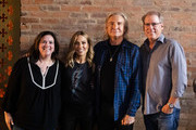 (L-R) Margaret Comeaux, Sheryl Crow, Joe Walsh and John Hamlin pose during CMT Crossroads: Sheryl Crow & Friends at Clementine Hall on August 22, 2019 in Nashville, Tennessee.