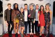 """Bryant Lowry, Alisa Fuller, Jessica Mack, Jackson Boyd, Whitney Port, Kerry Degman, Rachyl Degman and Sarah Thomas attend CMT's """"Music City"""" premiere party on February 20, 2018 in Nashville, Tennessee."""