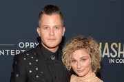 "Recording Artist Brandon Robert Young and Actor Clare Bowen attend CMT's ""Nashville"" In Concert Final Season Celebration at Grand Ole Opry House on March 25, 2018 in Nashville, Tennessee."