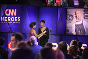 2017 CNN Hero Mona Patel (L) and Samira Wiley speak onstage during CNN Heroes 2017 at the American Museum of Natural History on December 17, 2017 in New York City. 27437_017