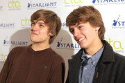 (l-r) Actors Dylan Sprouse and Cole Sprouse arrive to teach a Master Workshop on acting, hosted by Celebrity Talent Academy and Starlight Children's Foundation at the Cochrane Theatre on  January 29, 2011 in London, England.