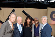 (L-R) Comedians Ryan Stiles, Colin Mochrie, Aisha Tyler, Wayne Brady and Mark Pedowitz, President of The CW Television Network attend the CW, CBS and Showtime 2013 summer TCA party on July 29, 2013 in Los Angeles, California.