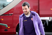 Andrea Lazzari of Fiorentina arrives prior the Serie A match between Cagliari Calcio and ACF Fiorentina at Stadio Sant'Elia on November 30, 2014 in Cagliari, Italy.
