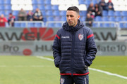 Andrea Cossu of Caglairi looks on   during the serie A match between Cagliari Calcio and Spal at Stadio Sant'Elia on February 4, 2018 in Cagliari, Italy.