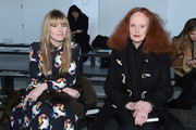Teen Vogue Editor-in-cheif Amy Astley (L) and Creative Director of American Vogue Grace Coddington attend the Calvin Klein Collection fashion show during Mercedes-Benz Fashion Week Fall 2015  at Spring Studios on February 19, 2015 in New York City.