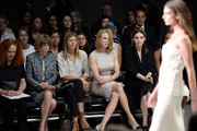 (L-R) Grace Coddington, Anna Wintour, Virginia Smith, Nicole Kidman and Rooney Mara attend the Calvin Klein Collection fashion show during Mercedes-Benz Fashion Week Spring 2014 at Spring Studios on September 12, 2013 in New York City.