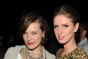 (l-r) Actress Milla Jovovich, Nicky Hilton pose at Calvin Klein Collection & Los Angeles Nomadic Division (LAND) 1st Annual Celebration For L.A. Arts Monthly and Art Los Angeles Contemporary (ALAC) on January 28, 2010 in Los Angeles, California.