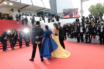 Camelia Jordana Aymerick Moucouveia 'Invisible Demons' Red Carpet - The 74th Annual Cannes Film Festival