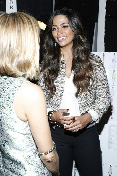Camila Alves - MBFW: Backstage at Tory Burch
